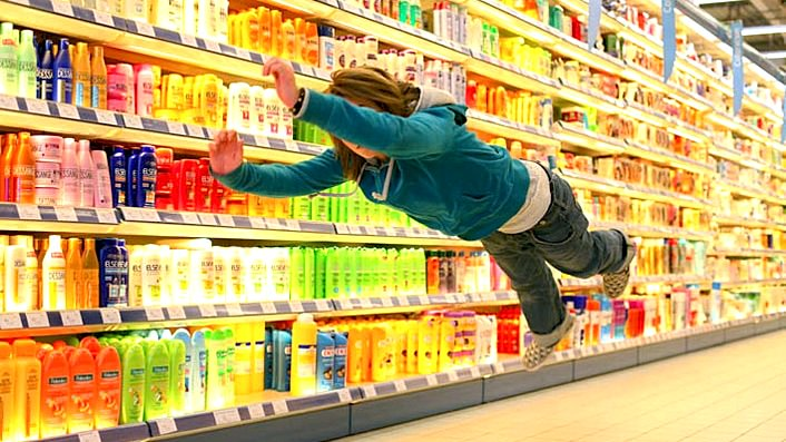 Supermarket flying